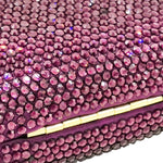 Purple Circle Crystal Embellished Clutch