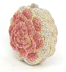 Blooming Rose Crystal Clutch Purse