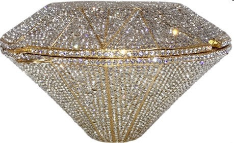 Starlight Dreams Gold Diamond Shaped Crystal Clutch