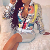 Sequined Silver Jacket