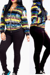 Patchwork Sequined Multicolor Coat
