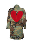 Broken Heart Camouflage Coat