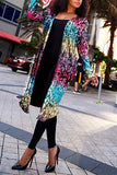 Long Sleeve Sequin Duster