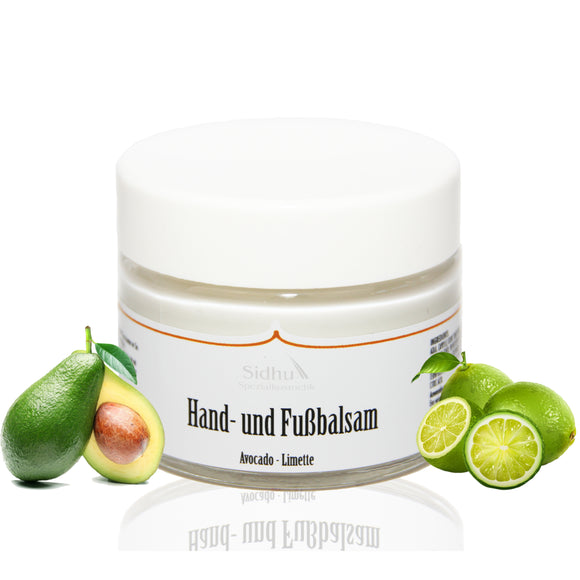 SIDHU HAND & FUß BALSAM AVOCADO - LIMETTE - Body Enjoy