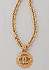 CHANEL<br>Vintage pendant necklace gold plated CC