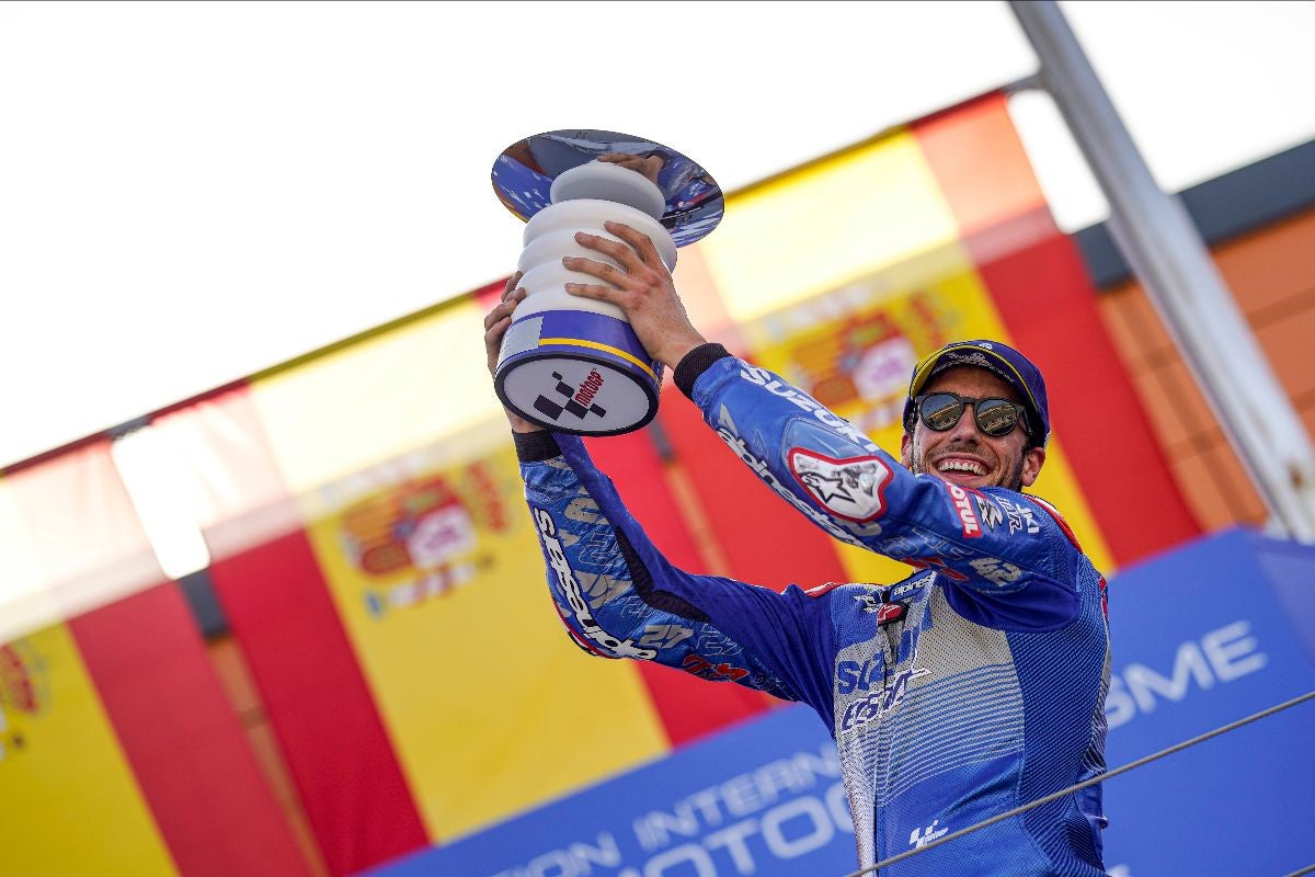 ALEX RINS POWERS TO MOTOGP VICTORY AT ARAGON, SPAIN