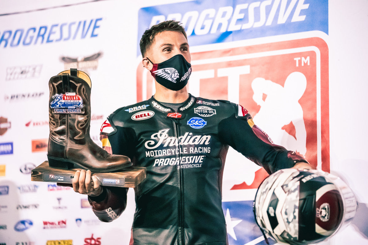 BRIAR BAUMAN DOES DALLAS DOUBLE AFTER WINNING BOTH AFT FLAT-TRACK FEATURE RACES AT MESQUITE, TEXAS