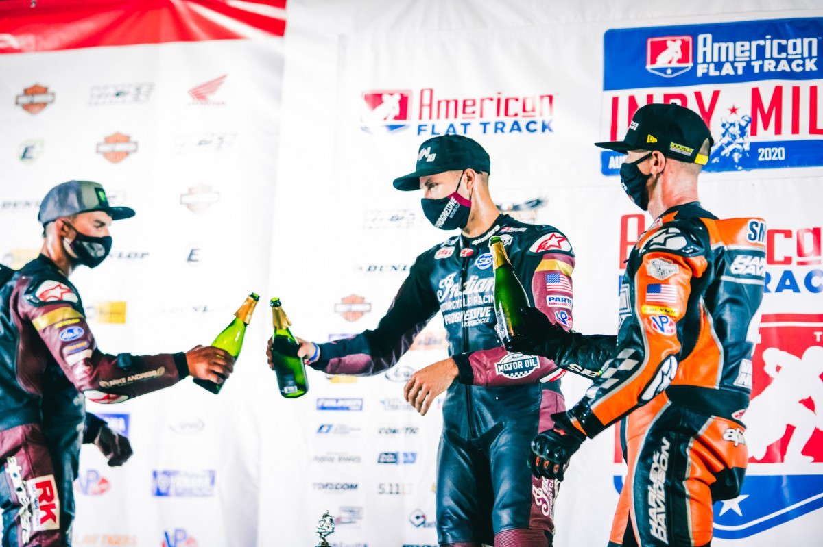 BAUMAN COMPLETES HISTORIC FLAT TRACK DOUBLE IN INDIANAPOLIS