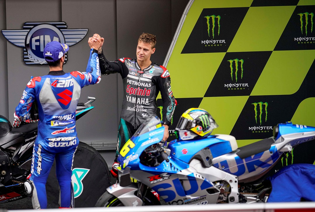 FABIO QUARTARARO POWERS TO COMMANDING MOTOGP VICTORY IN SPAIN; ALEX RINS SNATCHES STRONG THIRD