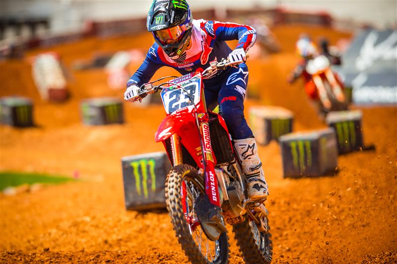 ALPINESTARS RACERS DOMINATE 450SX ATLANTA 2 RACE, LOCKING OUT NINE OF THE TOP TEN POSITIONS
