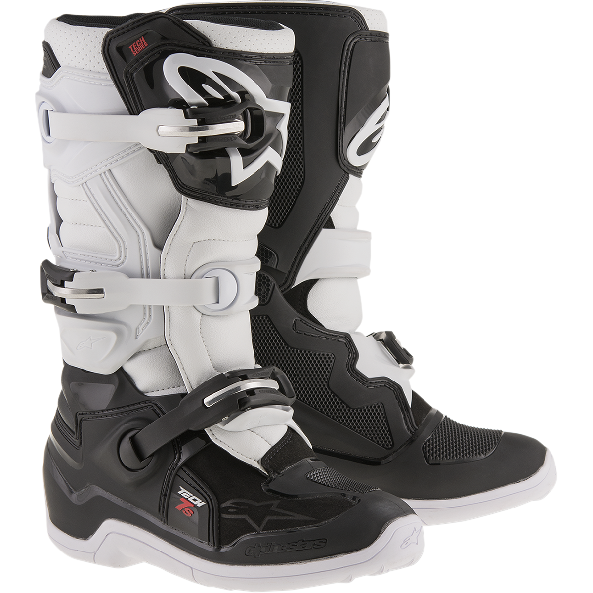 Alpinestars Unisex-Child Tech 7S Youth Boots Black//Orange//Blue, Size 3