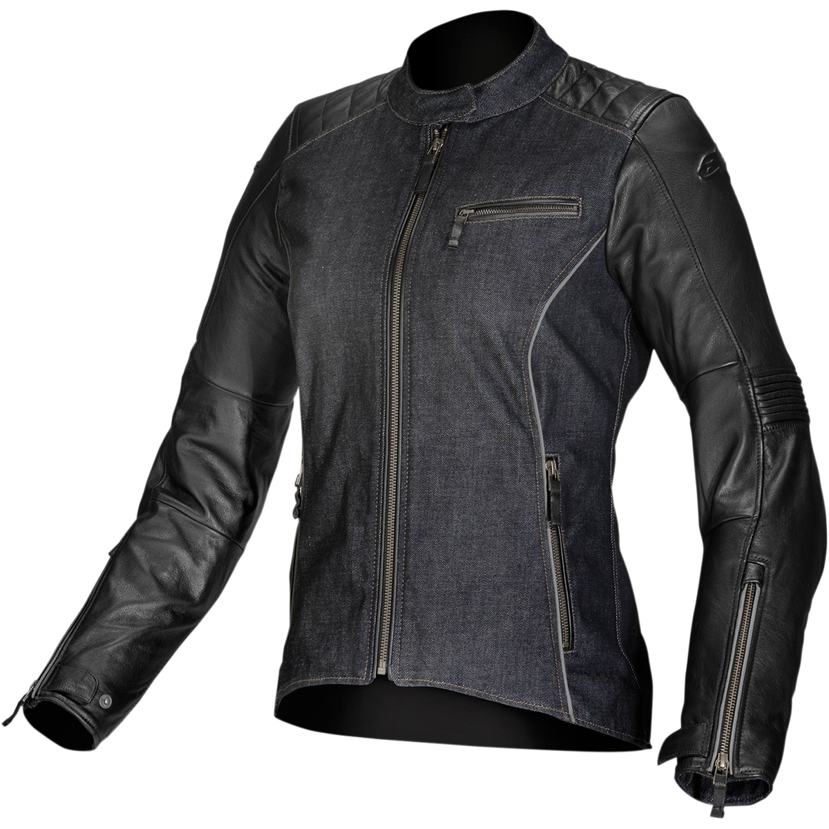 Stella Renee Denim/Leather Jacket