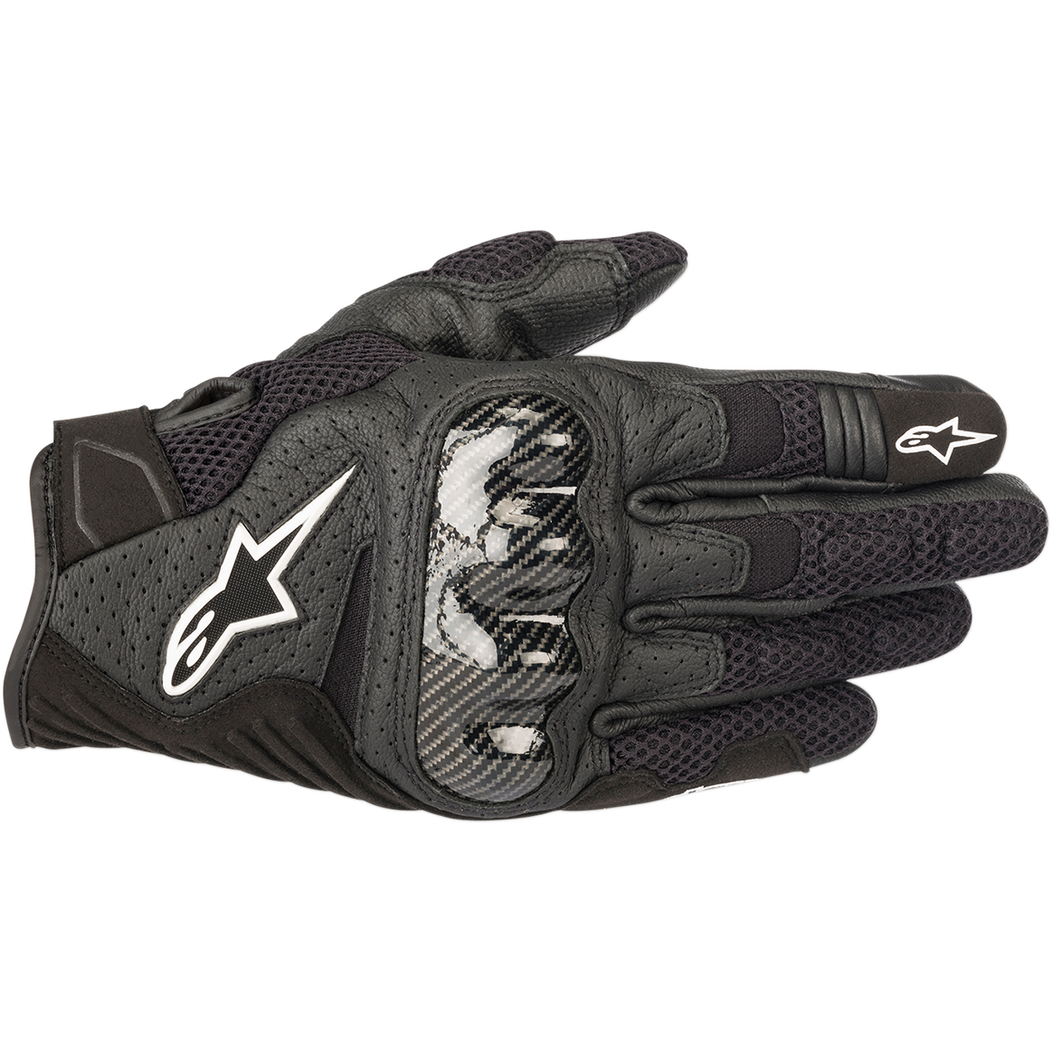 Black//Carbon Fiber XXLarge Alpinestars SMX-1 Air V2 Leather//Textile Motorcycle Gloves