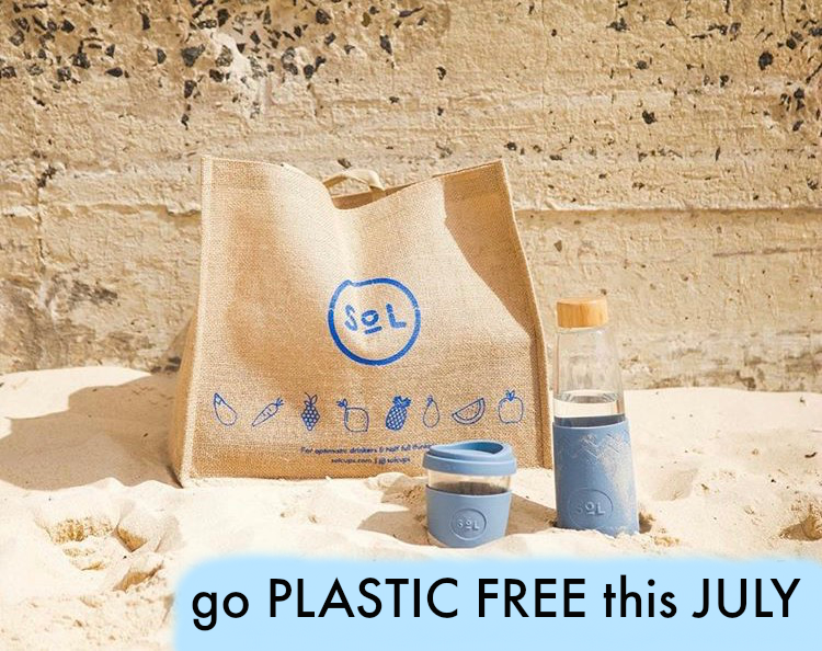 Plastic Free July by #SOLMATE Rocket & Honey