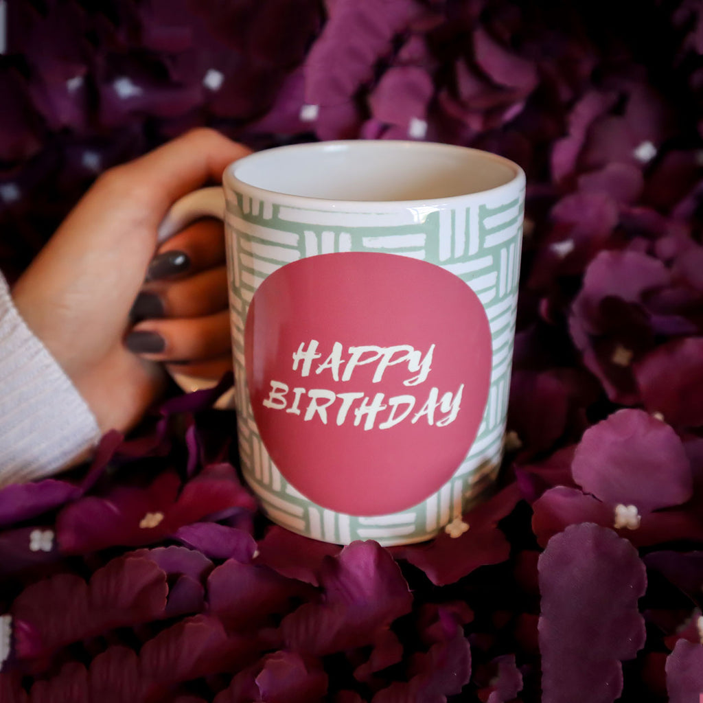 Happy Birthday Pink Mug