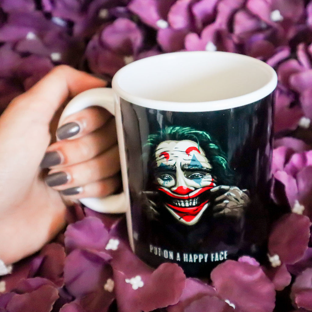Joker Put On A Happy Face Mug
