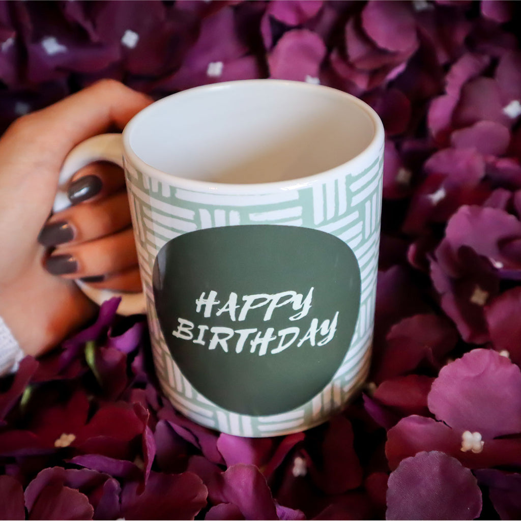 Happy Birthday Green Mug