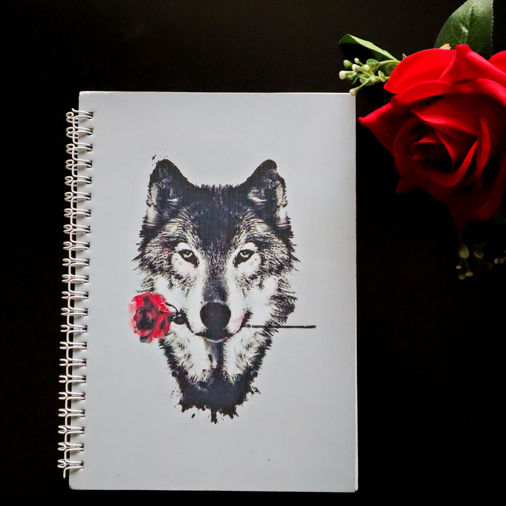 Wolf Rose A5 Notebook