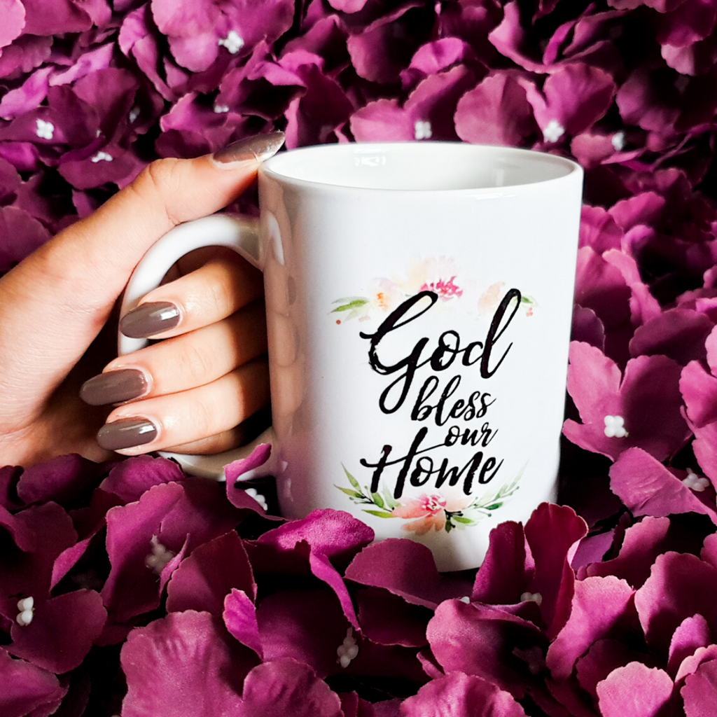 God Bless Our Home Mug