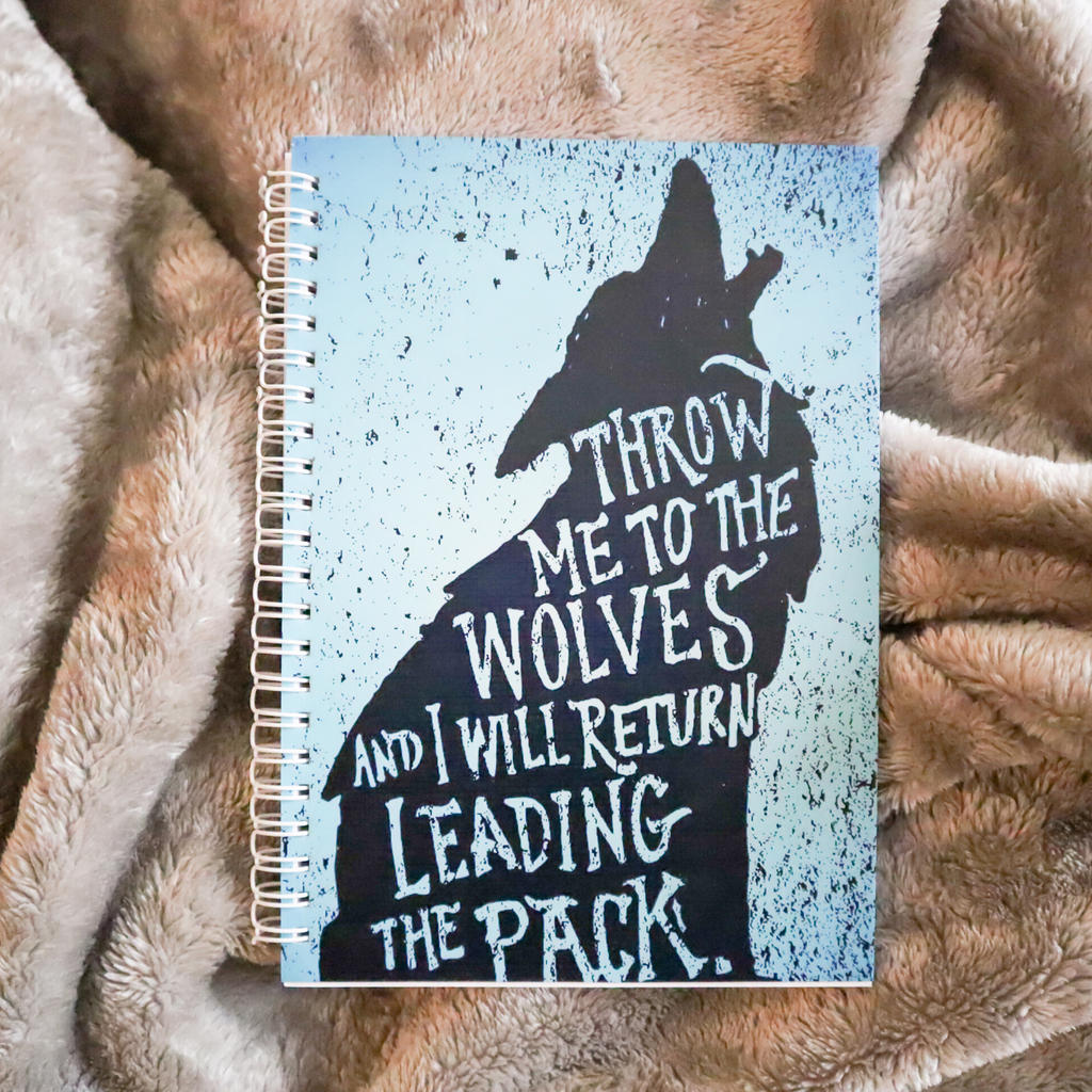 Throw Me To The Wolves A5 Notebook
