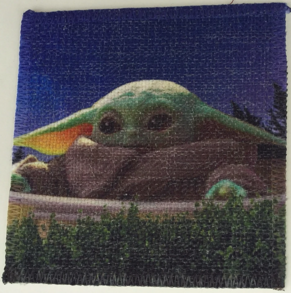 Baby Yoda Linen Patch Part Deux
