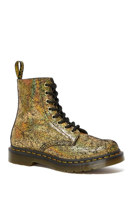 1460 Pascal Gold Metallic Leather Boots