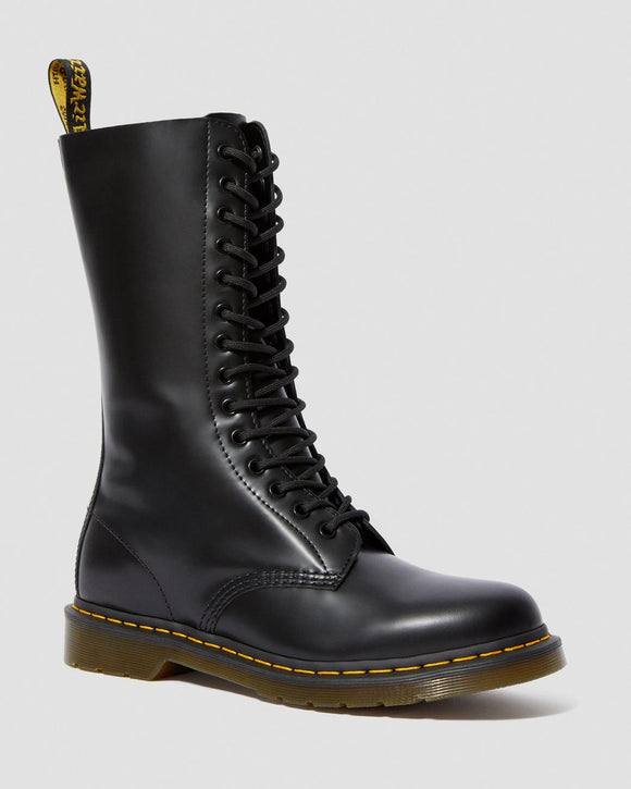 1914 SMOOTH LEATHER TALL BOOTS BLACK