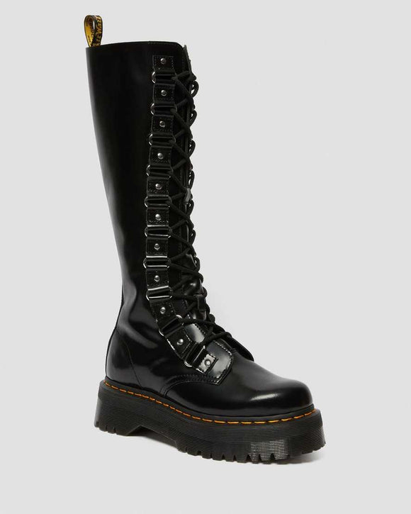 1B60 BRITAIN XL KNEE HIGH BOOTS BLACK