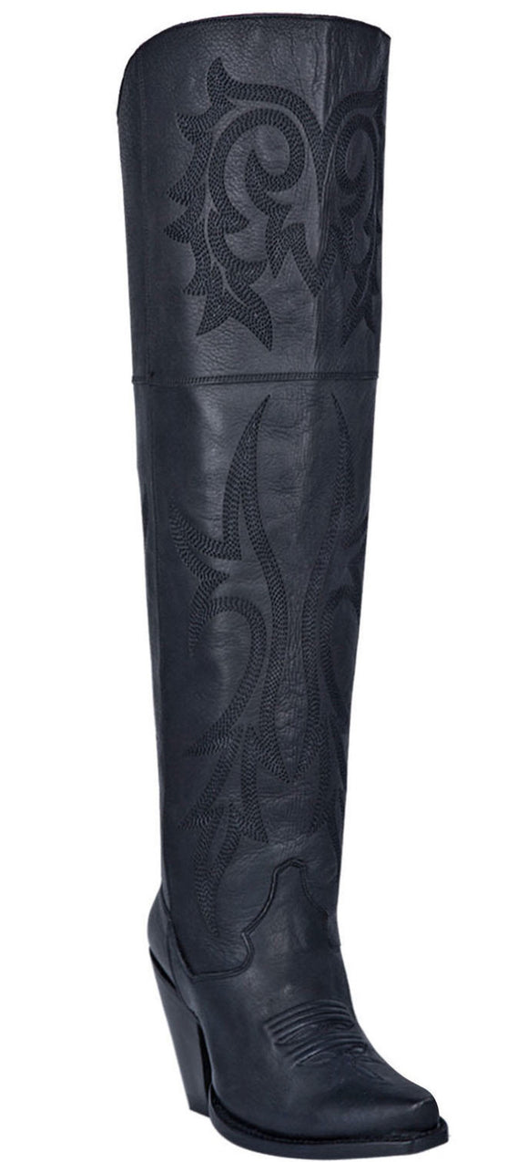 Black Jilted Fashion Western Boots - Snip Toe