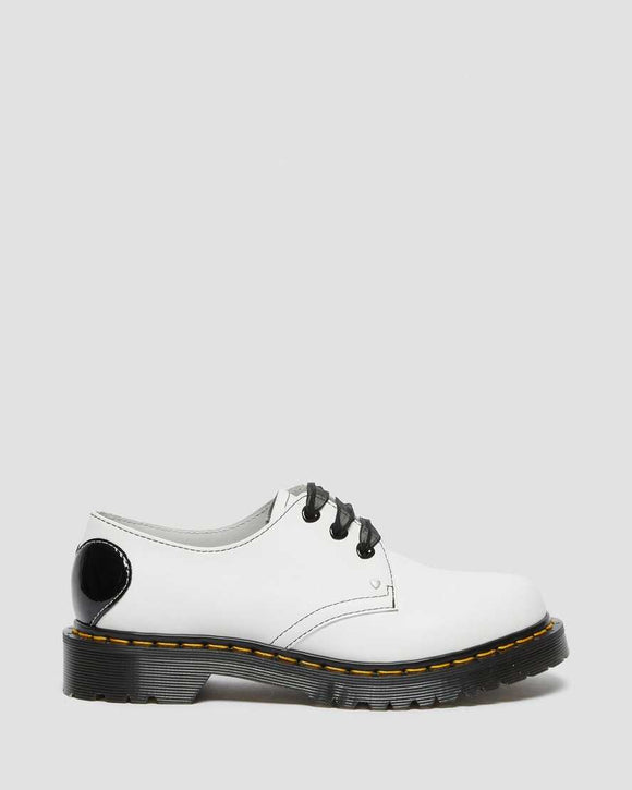 1461 Hearts Leather Oxford - White/Black