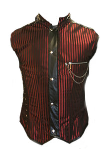 Freakshow Striped Corset Vest