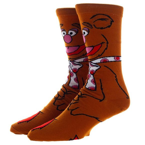 The Muppets Fozzie Bear Character Socks