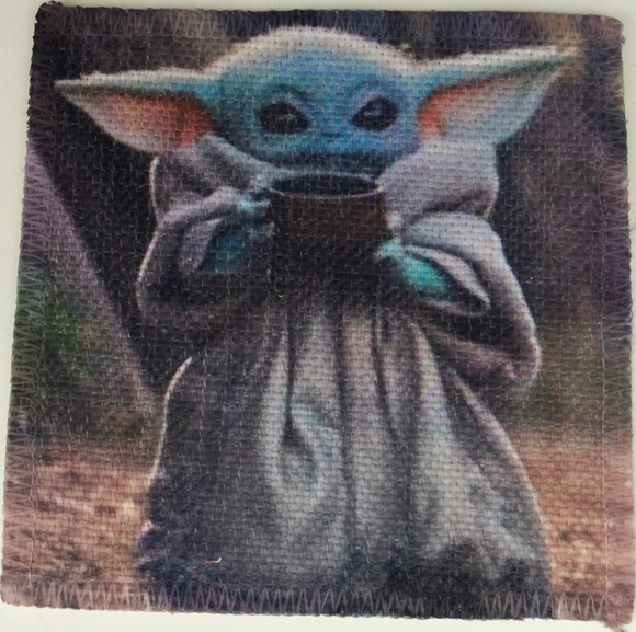 Baby Yoda Linen Patch