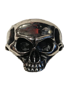 Wide elongated alien looking skull ring