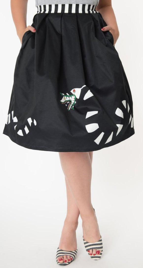 Beetlejuice Sandworm Swing Skirt