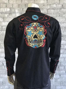 SUGAR SKULL EMBROIDERED BLACK