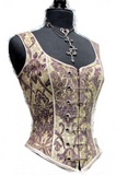 Purple and White Pin Bodice