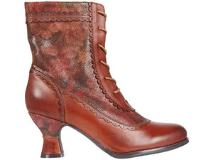 Bewitch Brown Floral Boot
