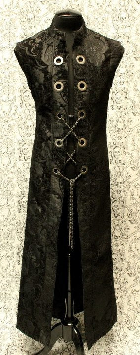 Hellraiser Long Vest with Chain
