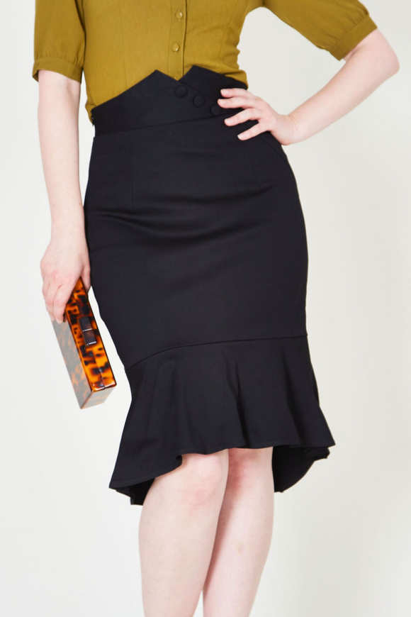 VV X Acid Doll Blithe Noir 50s Pencil Skirt