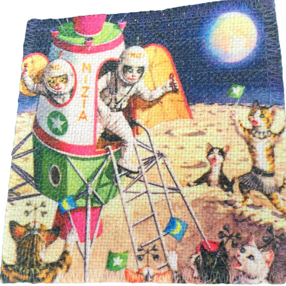 Cat-stronauts Linen Patch