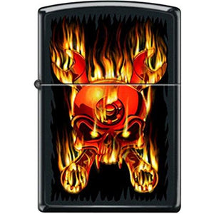 Flaming cross Wrenches Skull Lighter