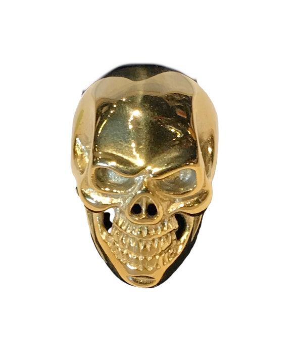 Full gold color finish shiny smooth skull