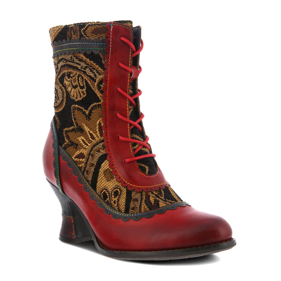 BEWITCH BOOT IN RED-MULTI