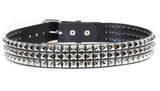 3 Row Pyramid Studded Belt