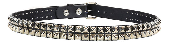 2 Row Pyramid Studded Belt