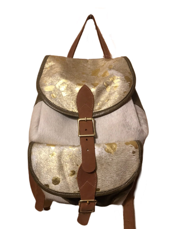 Leather Cowhide Backpack