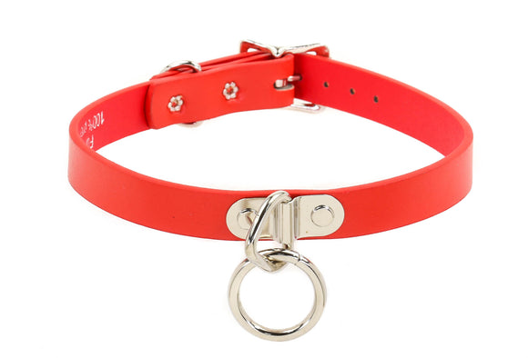 Red Bondage Ring Choker