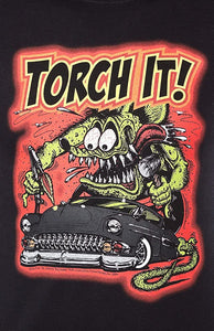 "Our hero is back and he is on fire! Created by artist Ed ""Big Daddy"" Roth, Rat Fink as the anti-hero to Mickey"