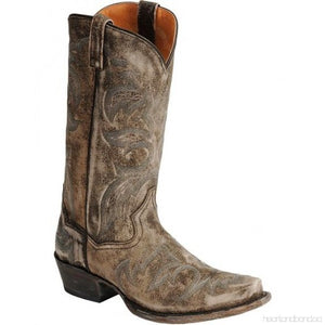 DISTRESSED SOFTEE STICHED COWBOY BOOTS